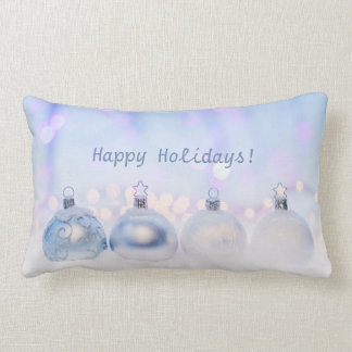 Happy Holidays Customizable Lumbar Pillow