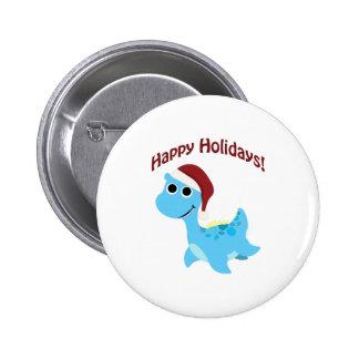 Happy Holidays! Cute Nessie 2 Inch Round Button