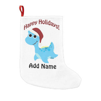 Happy Holidays! Cute Nessie Small Christmas Stocking