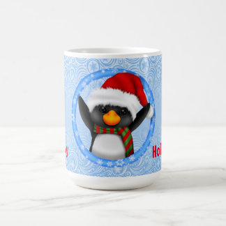 Happy Holidays Cute Penguin Coffee Mug
