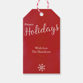 Happy Holidays Cute Snowflake Christmas Gift Tags