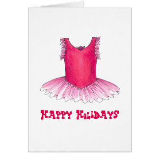 Happy Holidays Dance Teacher Ballet Christmas Card