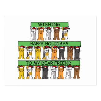 Happy Holidays Dear Friend. Postcard