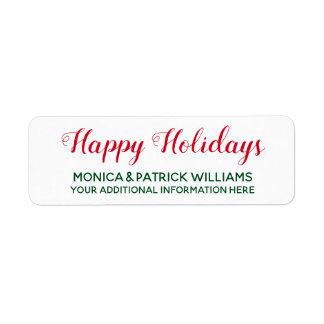Happy Holidays . December best wishes red&green