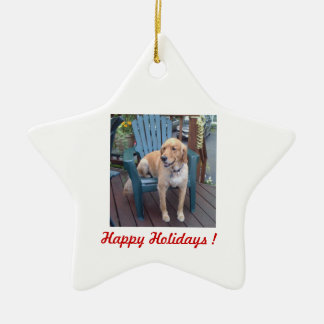 Happy Holidays ! - Dunbar Ceramic Ornament