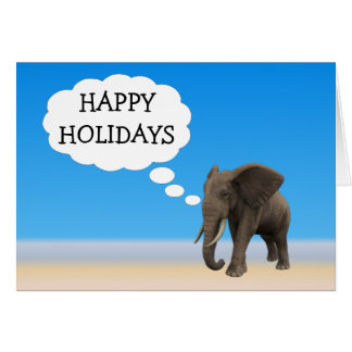 Happy Holiday's Elephant Card