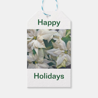 Happy Holidays Floral Gift Tag` Gift Tags