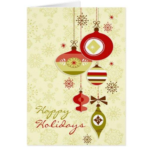 Happy Holidays Folded Cards