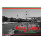 Happy Holidays from California Postcard