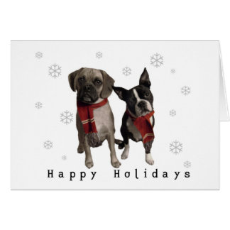 Happy Holidays from Charlie and Murphy Card