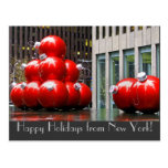 Happy Holidays from New York Postcard