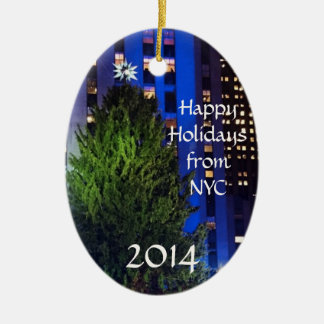 Happy Holidays from NYC Christmas Tree Ornaments