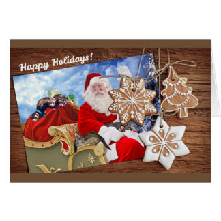 Happy Holidays from Santa and His Ferrets Card