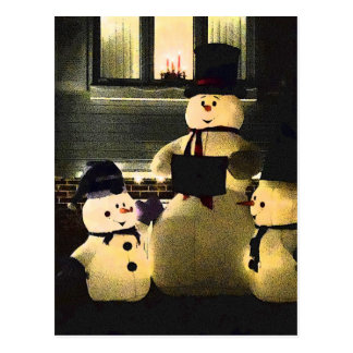 Happy Holidays From Snowmen Postcard
