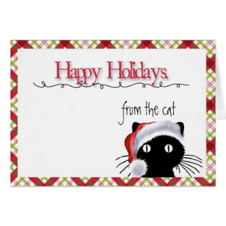 Happy Holidays From the Cat Card