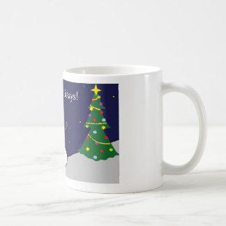 Happy Holidays Frosty Gear Coffee Mugs