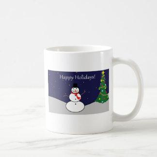 Happy Holidays Frosty Gear Basic White Mug