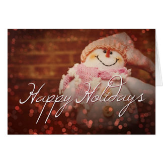 Happy Holidays Frosty the snowman christmas card