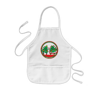 Happy Holidays Funny Dancing Christmas Trees Kids' Apron