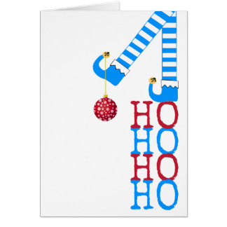 Happy Holidays Funny Elf Ho Ho Ho Photo Christmas Card
