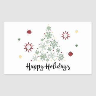 Happy Holidays Gift Wrapping Sticker