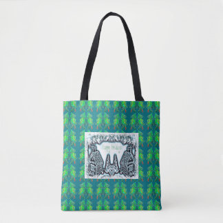 Happy Holidays Gingerbread and Christmas Trees Tote Bag