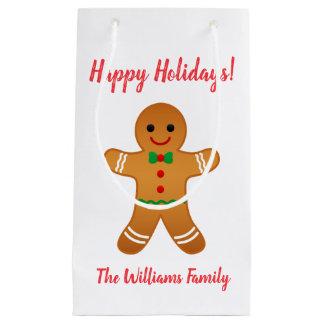 Happy Holidays! | Gingerbread Man Christmas Small Gift Bag