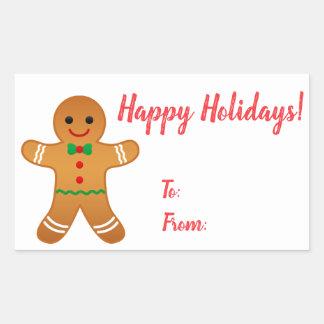 Happy Holidays! | Gingerbread Man Christmas Tag