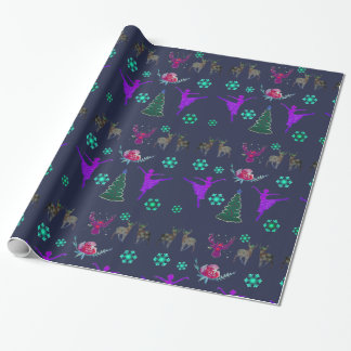 Happy Holidays Glossy Wrapping Paper