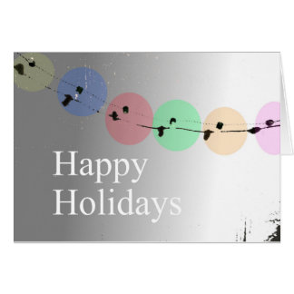 Happy Holidays greeting card secular greetings