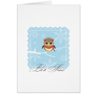 Happy Holidays Greeting Card - Winter Owl