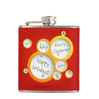 Happy Holidays Hip Flask