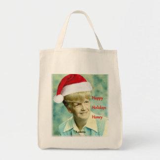 Happy Holidays Honey. Lomita totebag. Grocery Tote Bag
