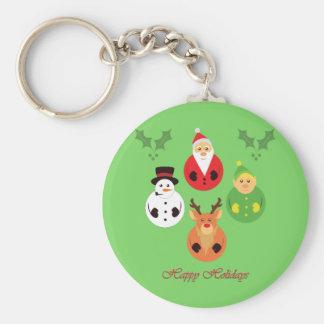 Happy Holidays! Keychain