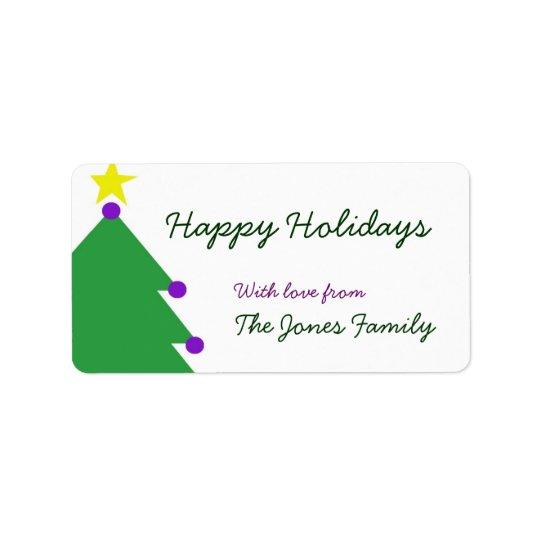 Happy Holidays Label