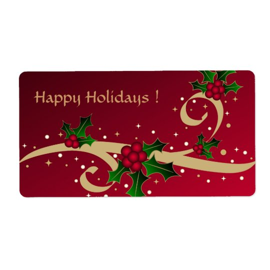 Happy Holidays ! - Label Shipping Label