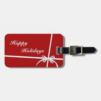 Happy Holidays Luggage Tag