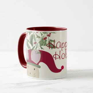 Happy Holidays Mouse Mug