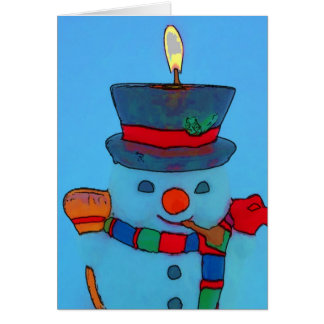 Happy Holidays Mr. Snowman Card