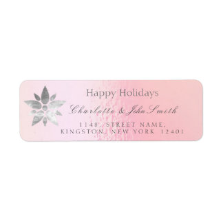 Happy Holidays New Year Rose Gold Gray Address