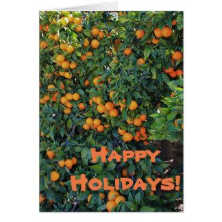 Happy Holidays Oranges Greeting Card