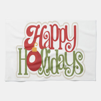 Happy Holidays Ornament Hand Towels