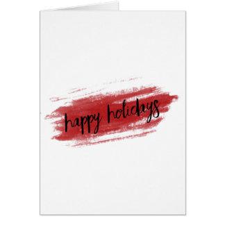 Happy Holidays (Paint Stripe) Christmas Card