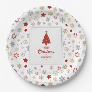 Happy Holidays Paper Plate