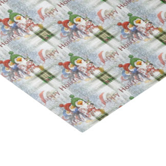 Happy Holidays Penguins Tissue Paper