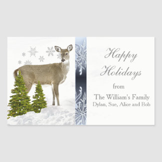 Happy Holidays Personalized Greeting Sticker