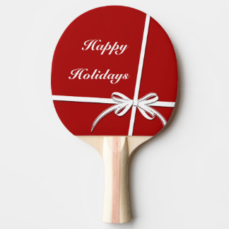 Happy Holidays Ping Pong Paddle