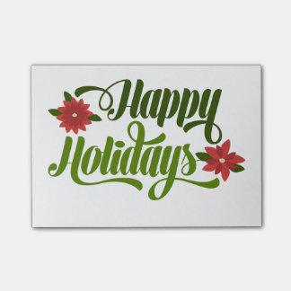Happy Holidays Poinsettia Post It Notes