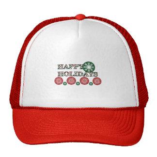 Happy Holidays Polkadot Word Art Trucker Hat