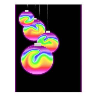 Happy Holidays Rainbow Postcard